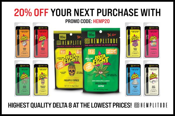 Hemplitude Coupon Code | 20% off entire order with no exclusions | (Verified) April 2021