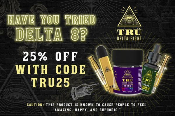 Tru Delta Eight Coupon Code | 25% off Entire Order | (Verified) October 2021